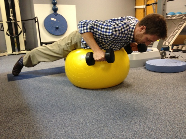 Prone Row On Ball