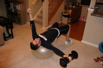 Bridge on stability ball with weight pass