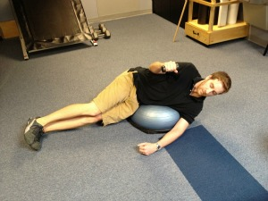 BOSU shoulder external rotation