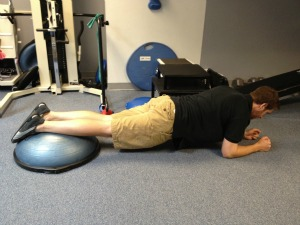 BOSU modified plank