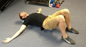 Chest stretch using a foam roller