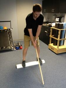 Golf Swing on foam roll