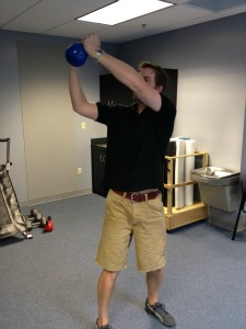 Kettlebell squat with rotation