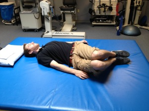 Low back rotation stretch