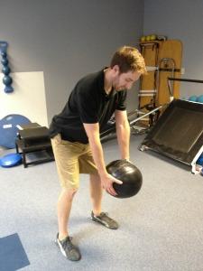 medicine ball golf swing