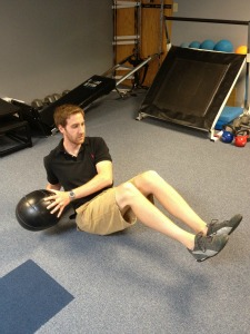 medicine ball russian twists