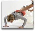 Pushup on stability ball