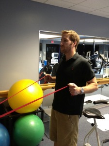 Row with resistance band