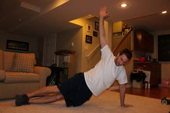 Side plank with hip drop