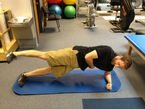 Side plank with leg raise