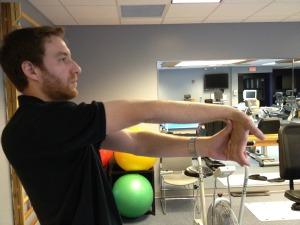 Golfer's elbow stretch