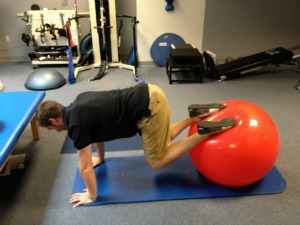 exercise ball reverse crunch